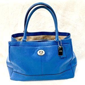 Coach bag good condition blue leather satchel bag.
